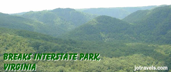 Breaks Interstate Park, Virginia and Kentucky, camping, hiking, whitewater, rhododendron lodge, Pine Mountain, Russell Fork river