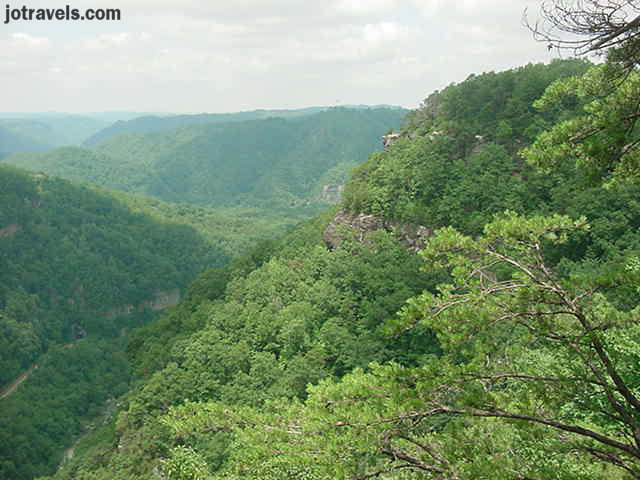 Looking to the west toward Kentucky from one of the overlooks at Breaks Interstate Park.