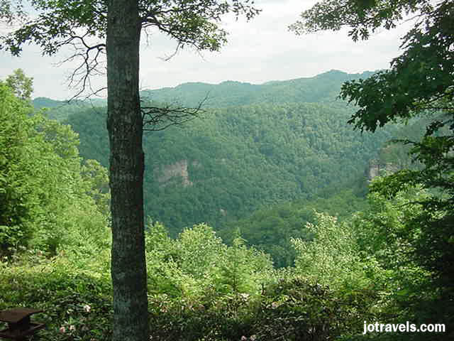 Looking over the edge of Pine Mountain at Breaks Interstate Park.