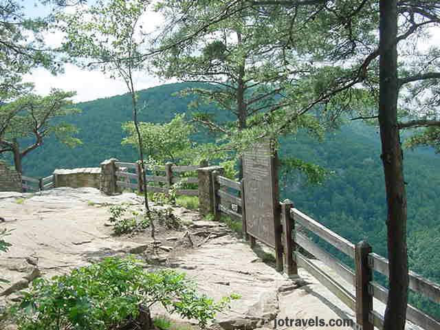 Stateline Overlook.  The paths to the overlooks were well taken care of, and one was even handicap accessable, at Breaks Interstate Park.