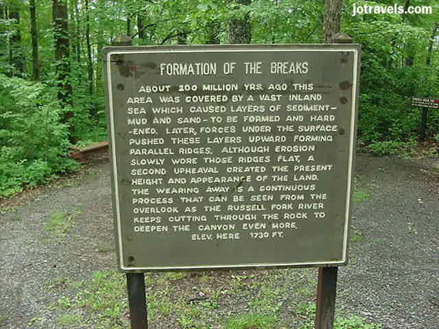 sign at Breaks Interstate Park.