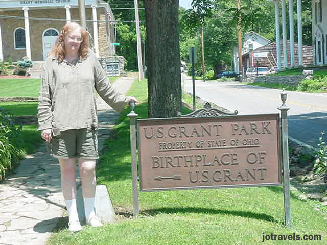 me at President Ulysses S. Grant's birthplace, Point Pleasant Ohio