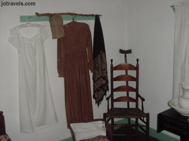 Womens clothing from the early 1800s at President Ulysses S. Grant's birthplace, Point Pleasant Ohio