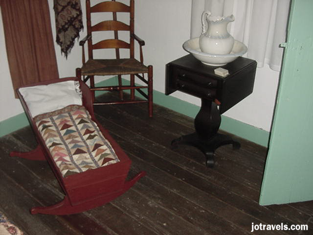 Grants cradle at President Ulysses S. Grant's birthplace, Point Pleasant Ohio