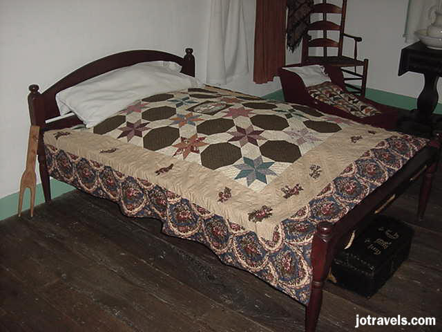 The bed at President Ulysses S. Grant's birthplace, Point Pleasant Ohio