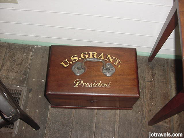 A box used by President Ulysses S. Grant