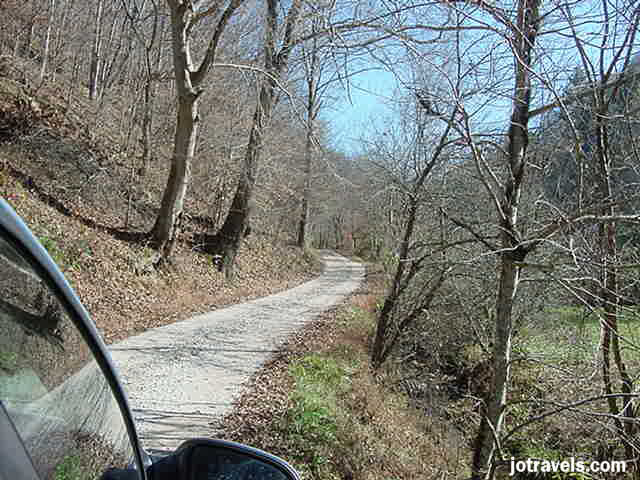 the road to Butcher Hollow Kentucky