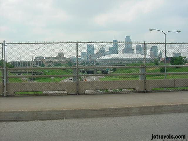 Minneapolis in the distance