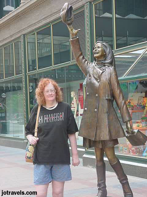 Mary Tyler Moore statue, downtown Minneapolis