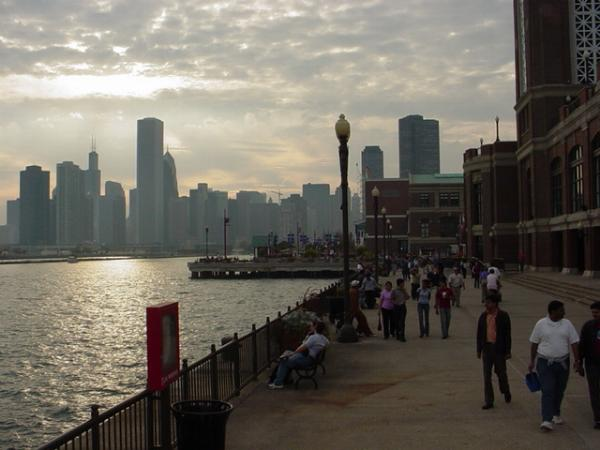 View from Navy Pier in Chicago Illinois