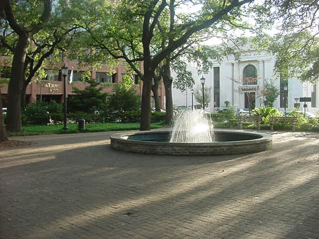 Johnson Square Fountain Savannah Georgia