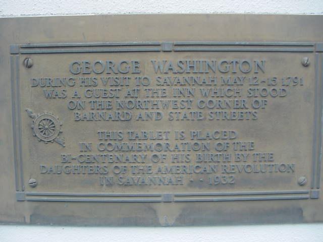 Washington's Southern Tour Savannah Georgia