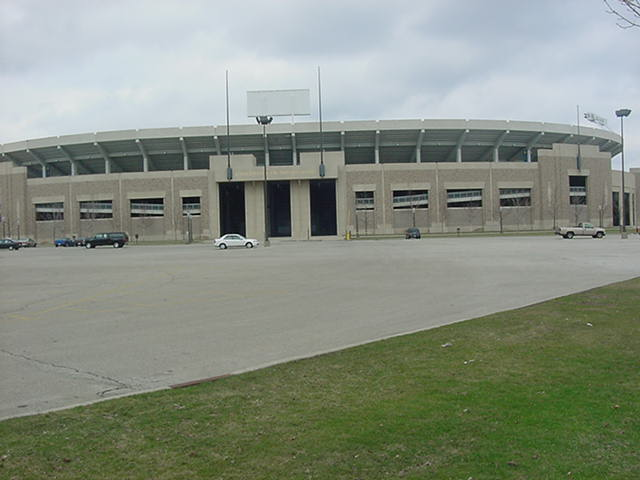 the famous football stadium at Notre Dame University South Bend Indiana